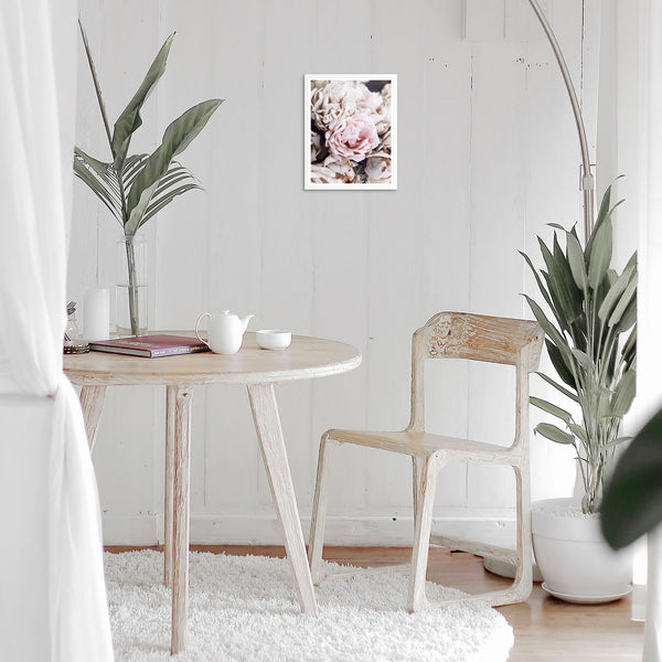 Peonies Art Print Trendy Botanical Flowers Wall Poster