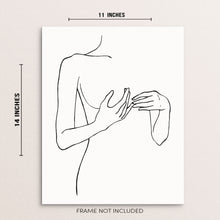 Minimalist One Line Art Print Abstract Woman's Body Figure Poster
