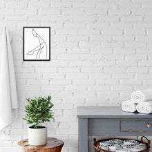 Minimalist Line Drawing Art Print Woman's Legs Poster