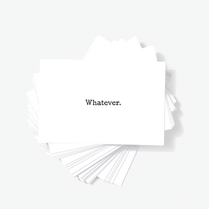 Whatever Sarcastic Witty Mini Greeting Cards by Sincerely, Not