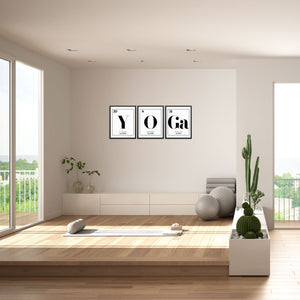 YOGA Periodic Table of Elements Words Art Print Set by Sincerely, Not