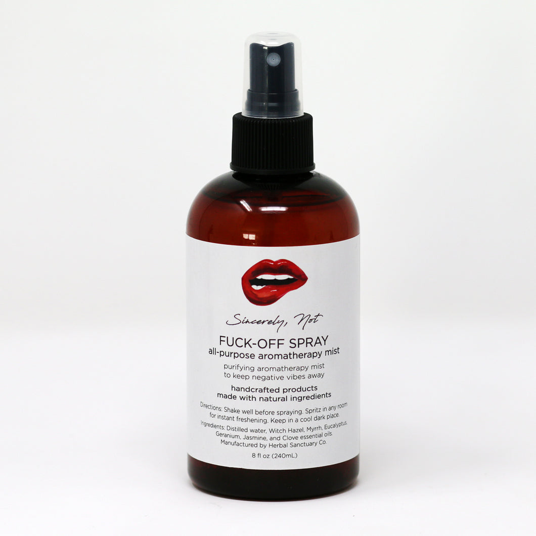 Aromatherapy Home and Body Spray - Fuck Off All Purpose 8oz Bottle By Sincerely, Not Greeting Cards and Novelty Gifts