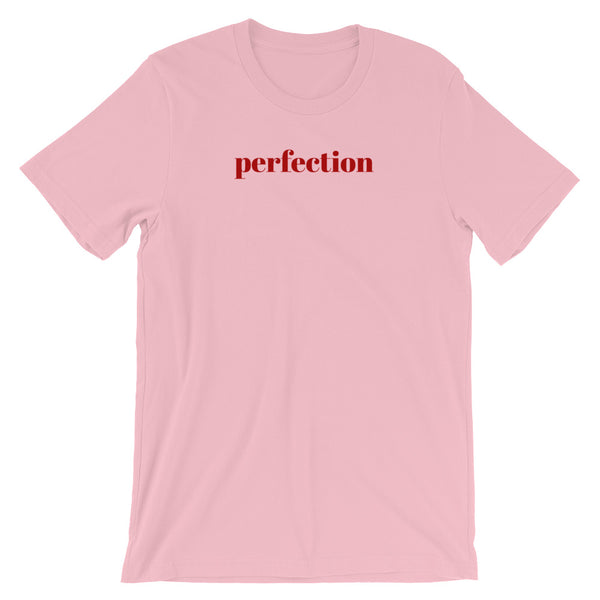 Short Sleeve Women's T-Shirt - Perfection Slogan Cotton Tee by Sincerely, Not