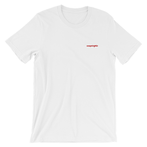 Unapologetic Embroidered Slogan T-Shirt - Short Sleeve Cotton Tee