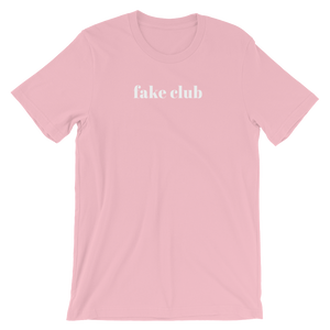 Short Sleeve Women's T-Shirt - Fake Club Slogan Cotton Tee