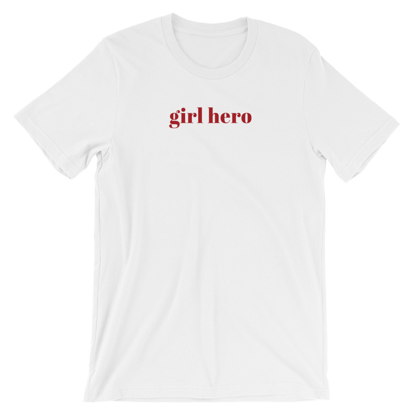 Short Sleeve Women's T-Shirt - Girl Hero Slogan Cotton Tee