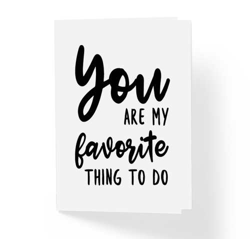 Unusual Love, Rude, Witty, Funny, Offensive Greeting Card by Sincerely, Not