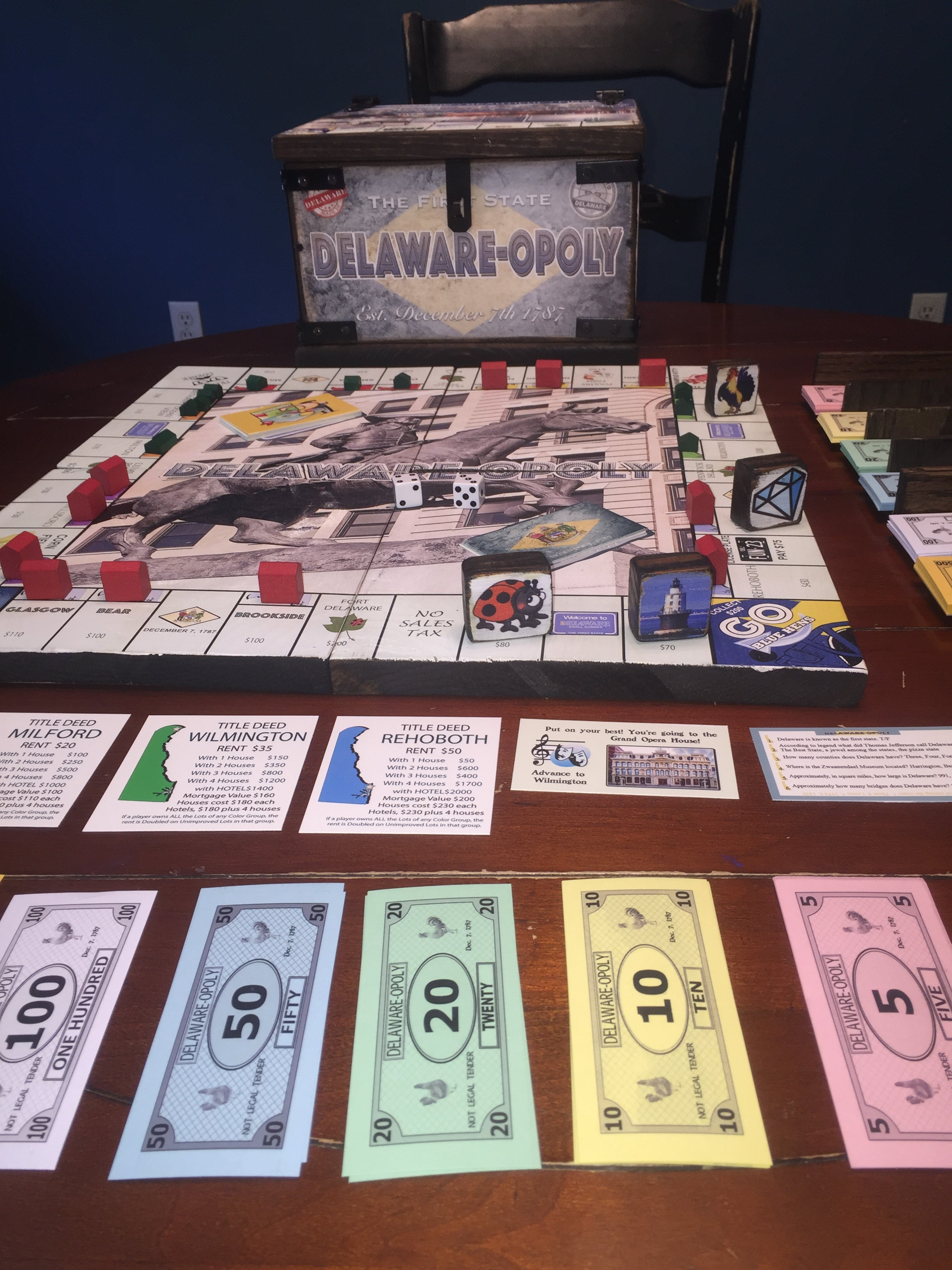 Delaware'opoly • Wooden • Limited Edition