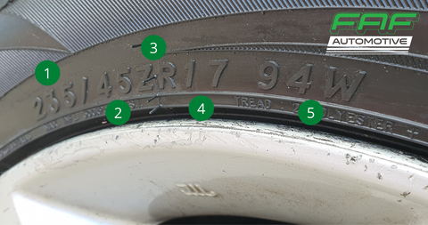 Tyre Size Detail