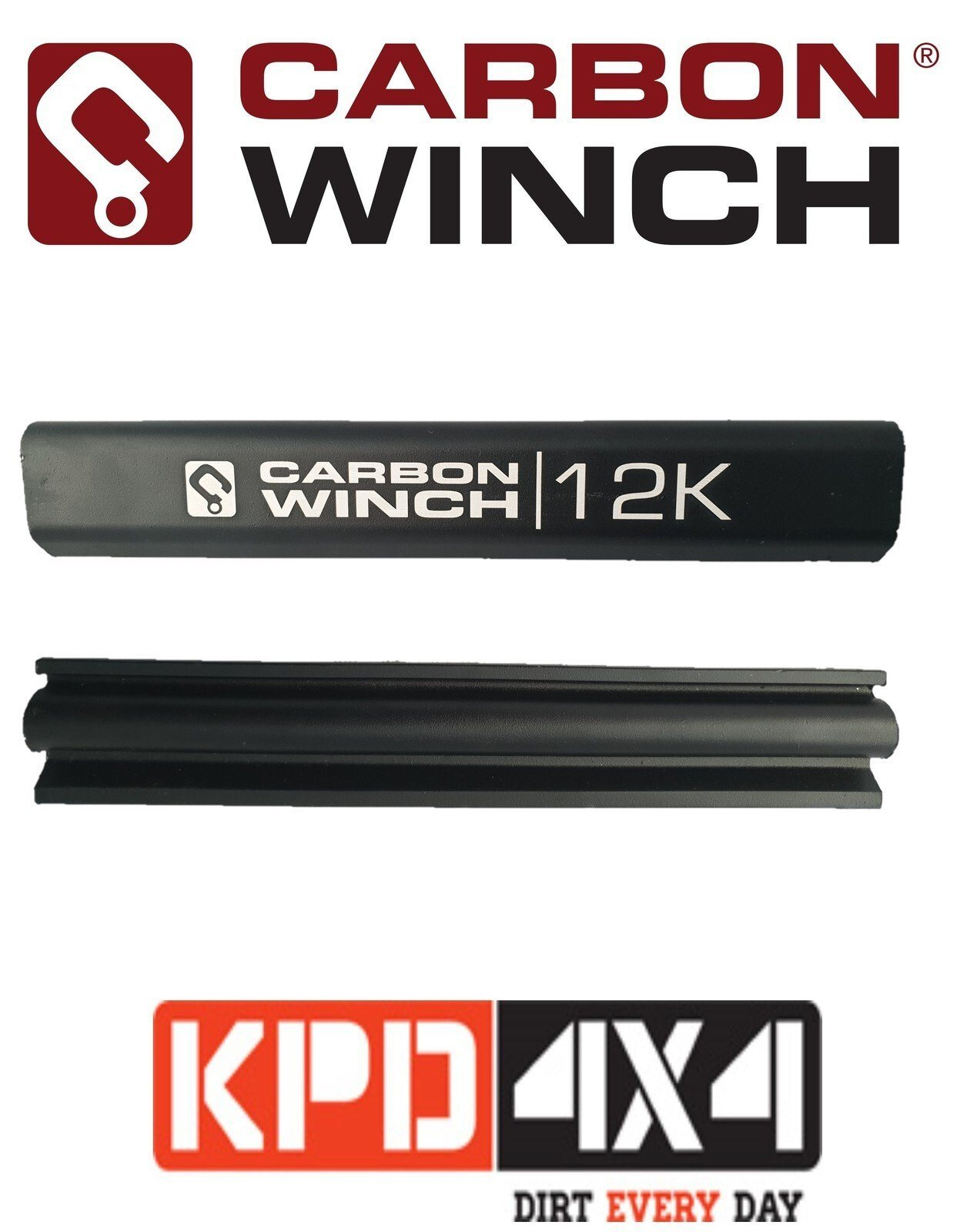 12000Lb Winch Tie Bar With Logo Carbon Winch