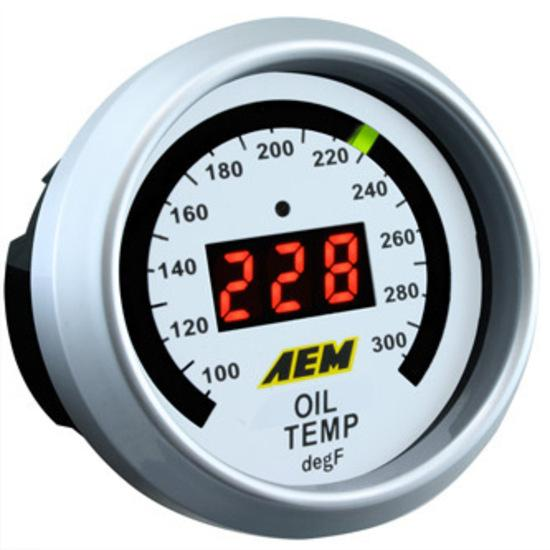 AEM OIL/WATER TEMP GAUGE (100-300F) FAF Automotive
