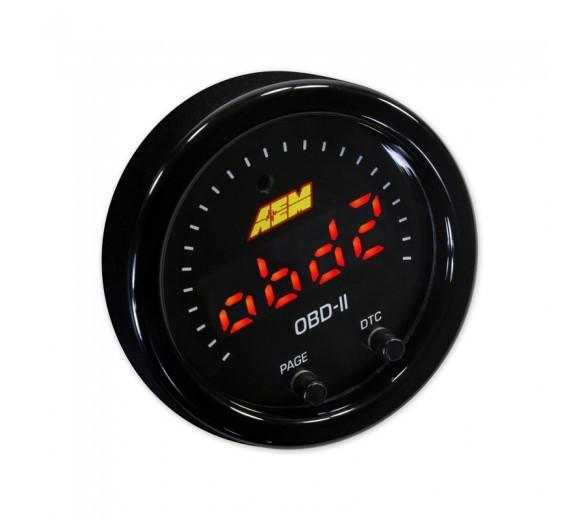 AEM X-SERIES OBDII GAUGE. BLACK BEZEL & BLACK FACEPLATE FAF Automotive