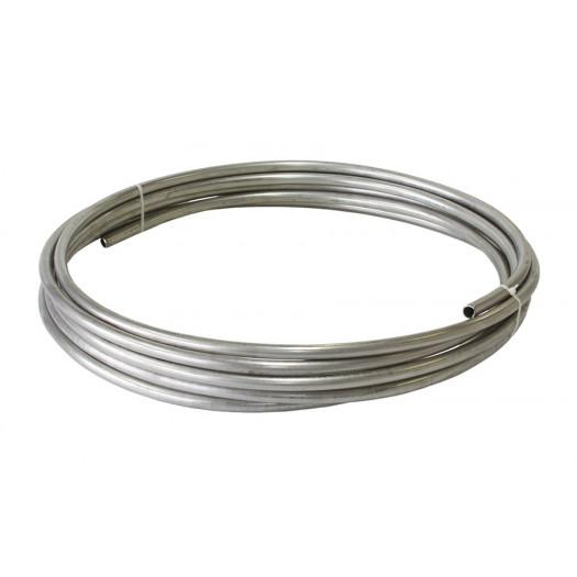 "Aeroflow Performance Stainless Steel Fuel Line 3/8"" (9.5mm) 25ft (7.6m) Length Roll FAF Automotive"