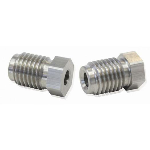 "Aeroflow Performance Stainless Steel Inverted Flare Tube Nuts (Pair) M12 -1.0mm to 3/16"" Hard FAF Automotive"