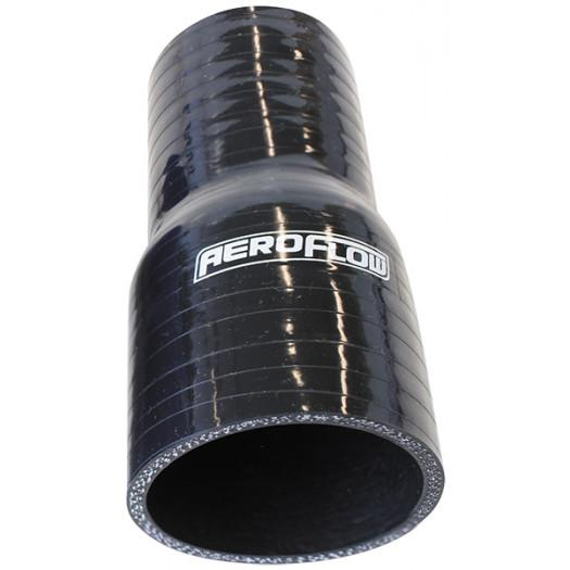 "Aeroflow Performance Straight Silicone Hose Reducer 3/4"" - 1/2"" (19-13mm) I.D Gloss Black Finish. 5"" (127mm) FAF Automotive"