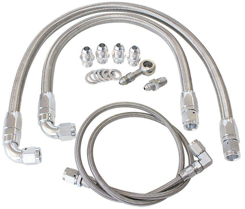 Aeroflow Turbo Oil & Water Feed Line Kit Suit Nissan SR20 S14 and S15 FAF Automotive