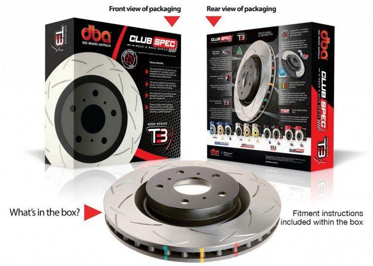 DBA Toyota Supra JZA80 DBA4000 T3 Slotted Rear Brake Rotor - 2pot FAF Automotive