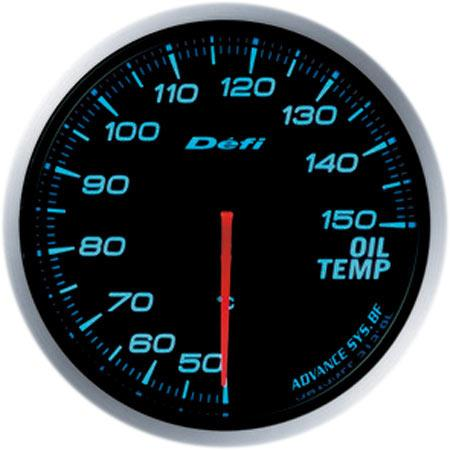 DEFI ADVANCE BF OIL TEMP GAUGE - 150C (60MM) FAF Automotive Blue