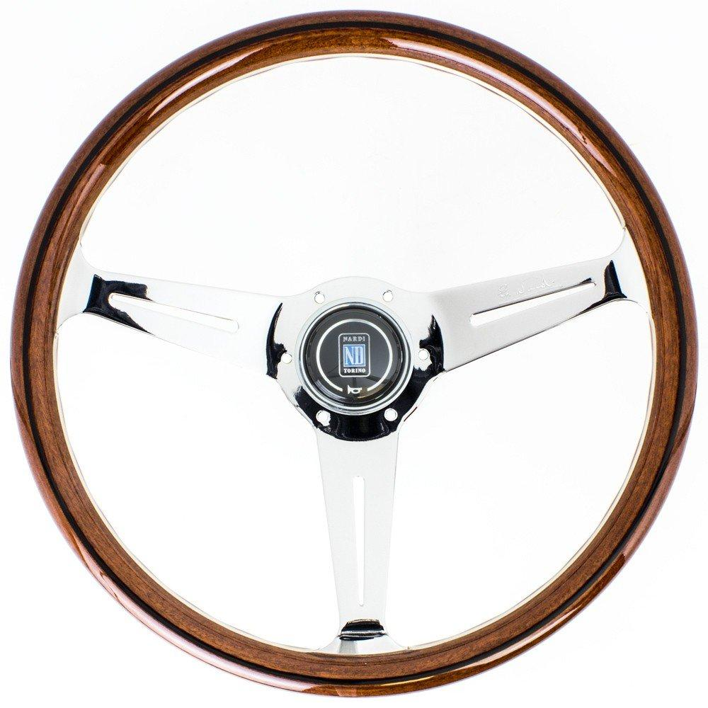 Genuine Nardi Classic Steering Wheel - Wood with Polished Spokes - 360mm FAF Automotive