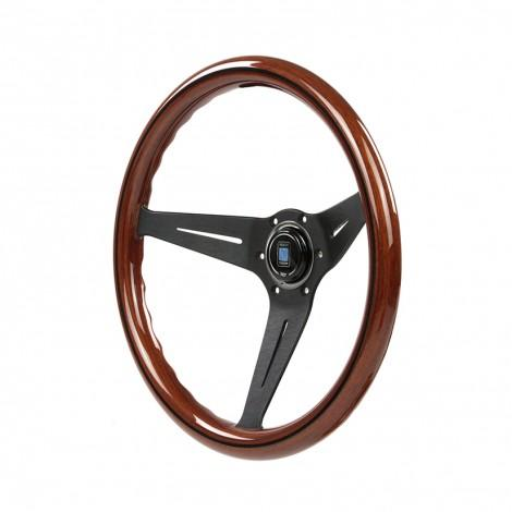 Genuine NARDI DEEP CORN WOOD STEERING WHEEL 350MM