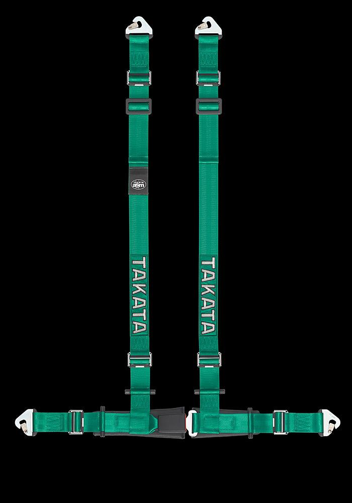 GENUINE TAKATA DRIFT 2 HARNESS 4 PIONT 2 INCH SNAP FAF Automotive Green