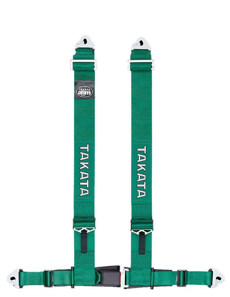 GENUINE TAKATA DRIFT 3 HARNESS 4 PIONT 3 INCH SNAP GREEN FAF Automotive Green