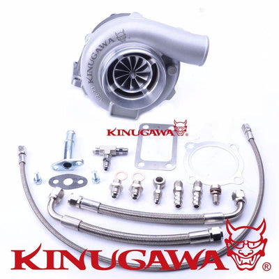 "Kinugawa Ball Bearing Turbocharger 4"" Anti-Surge GTX3076R 10cm T3 V-Band 4 Bolt External FAF Automotive"