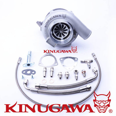 "Kinugawa Ball Bearing Turbocharger 4"" Anti-Surge GTX3076R AR.73 3 Bolt V-Band FAF Automotive"