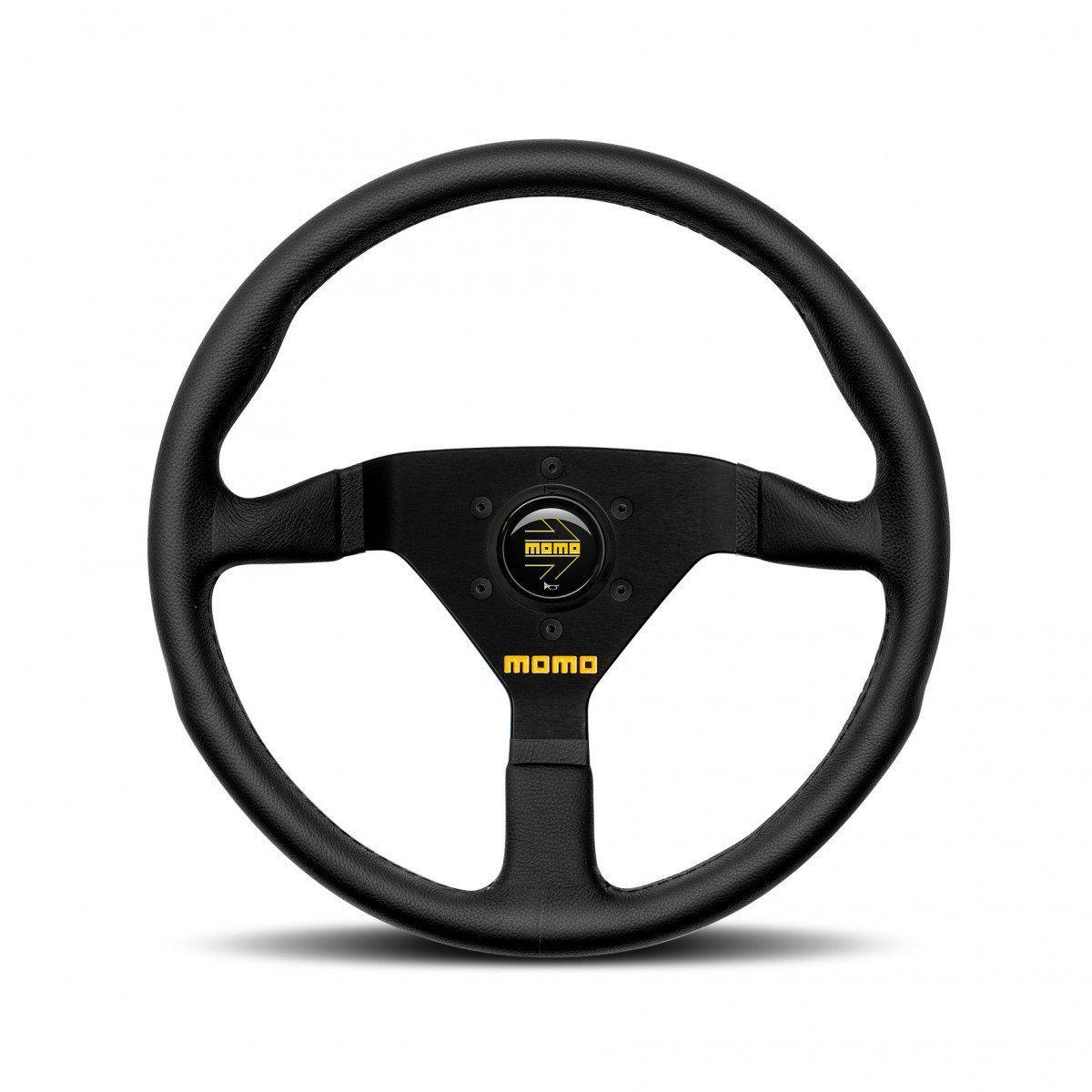 MOMO Mod. 78 - Black Leather Track Steering Wheel FAF Automotive