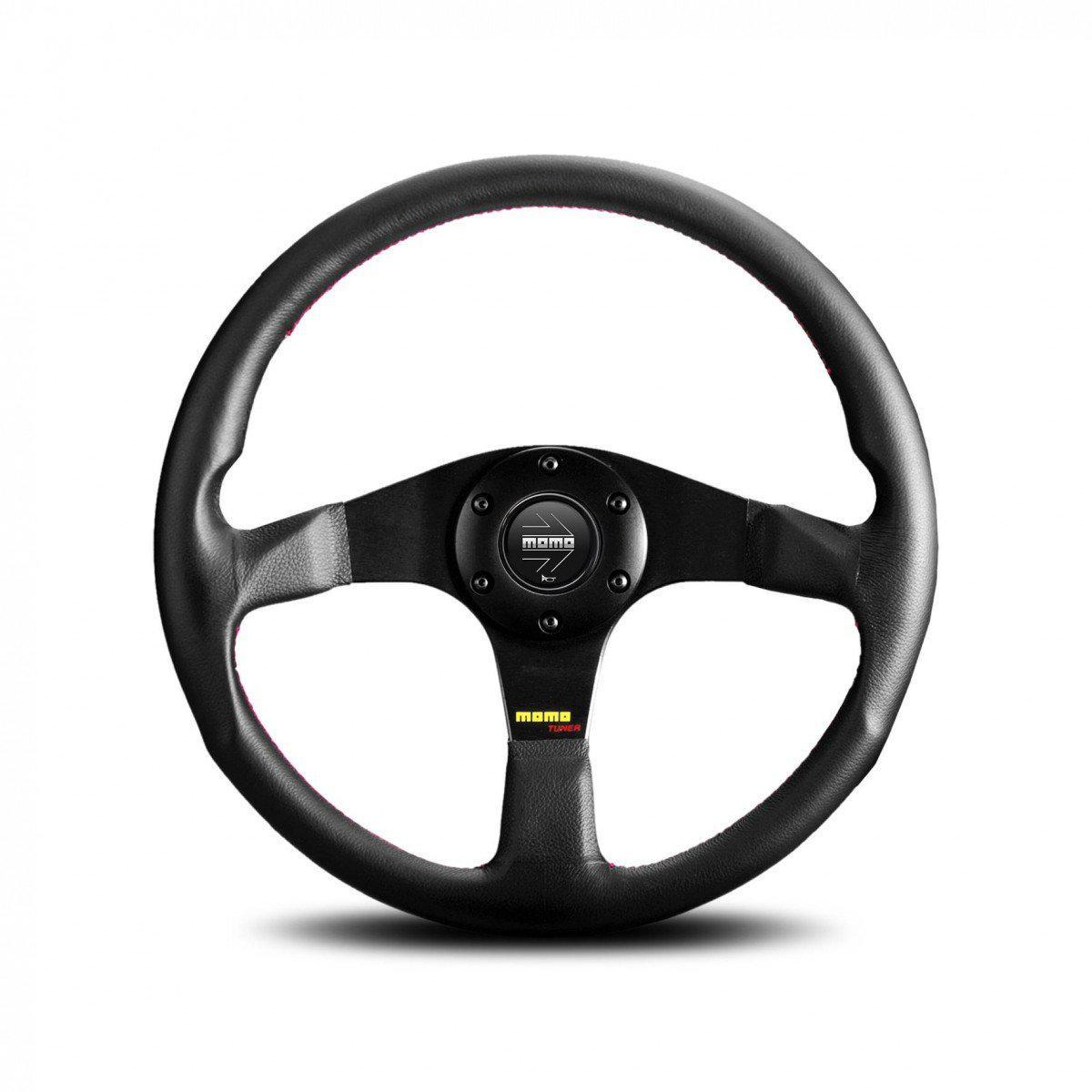 MOMO Tuner - Leather Street Steering Wheel FAF Automotive 320mm Black Leather