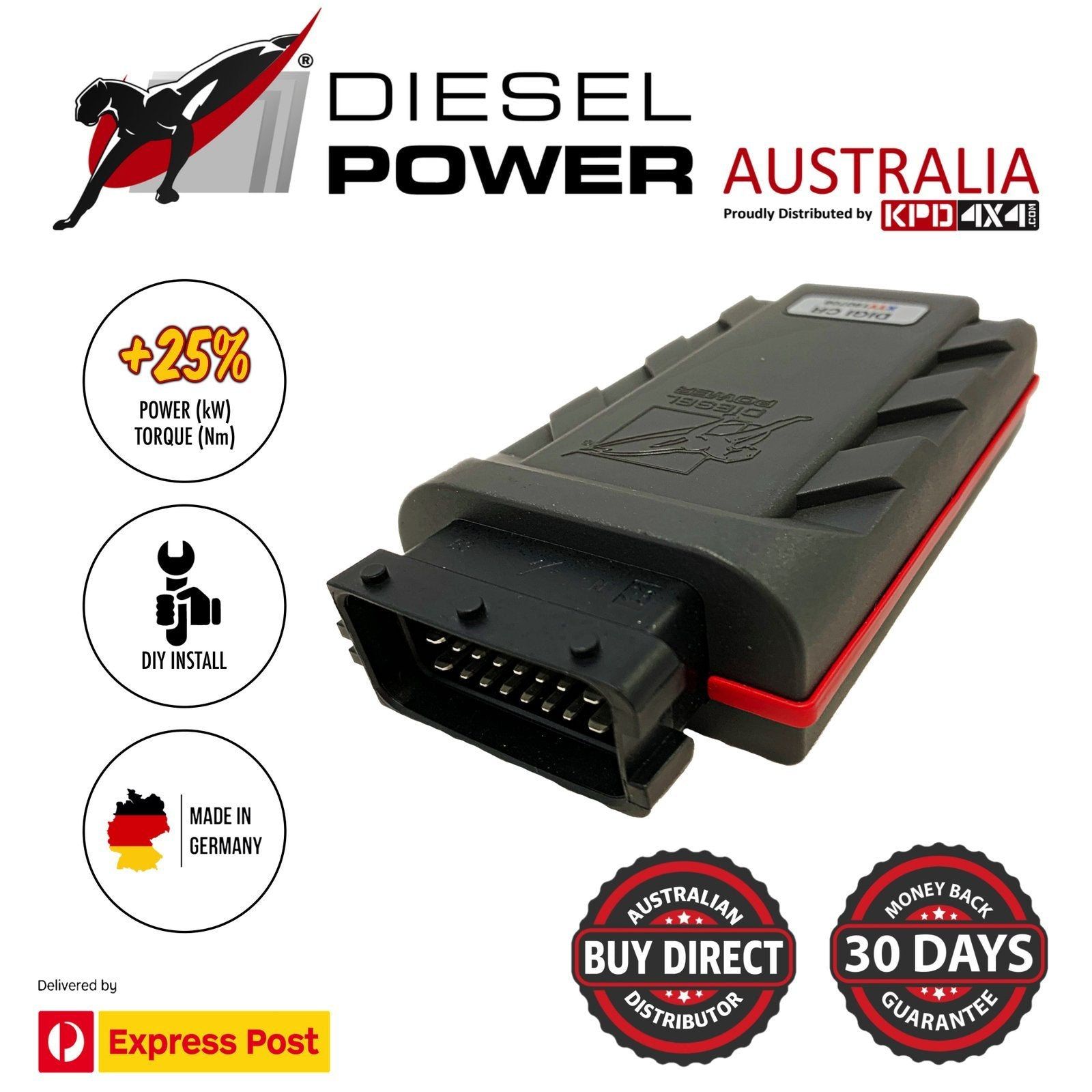 Nissan Navara D22 Zd30 Direct Injection 3.0 4X4 Diesel Power Module Tuning Chip Carbon Winch