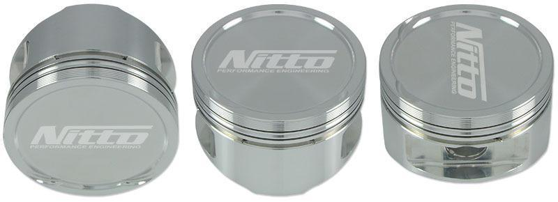 "NISSAN SR20 2.2L STROKER NITTO PISTONS - 87.0MM (+.040"") -16cc DISH FAF Automotive"