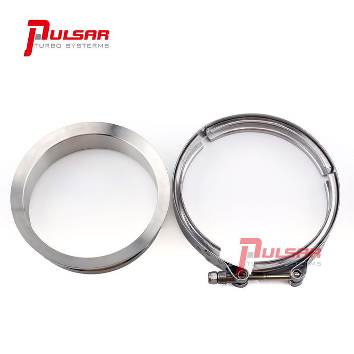 PULSAR S400 T6 Turbo 5″ Stainless Steel Flange Clamp Kit V Band Flange Pulsar Turbos Australia