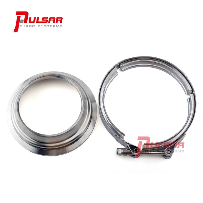 PULSAR S400 T6 Turbo 5 to 4″ Stainless Steel Flange Clamp Kit V Band Flange Pulsar Turbos Australia