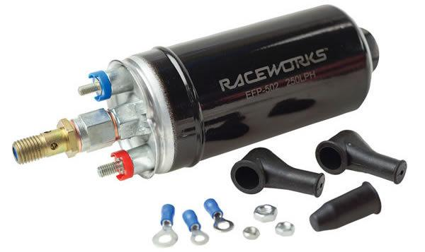 RACEWORKS EXTERNAL 250LPH @ 5 BAR HIGH FLOW PUMP