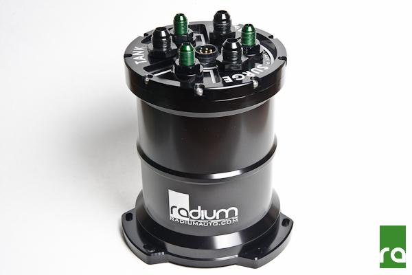 Radium Multi-Pump Fuel Surge Tank 20-0138-00 Dual Walbro F90000267 E85, (Pumps Not Incl)