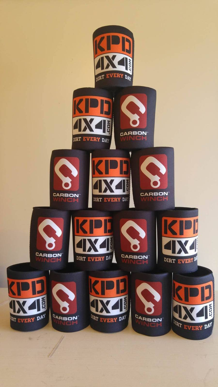 Stubby Holder With Kpd 4X4 & Carbon Winches Australia Logos Carbon Winch