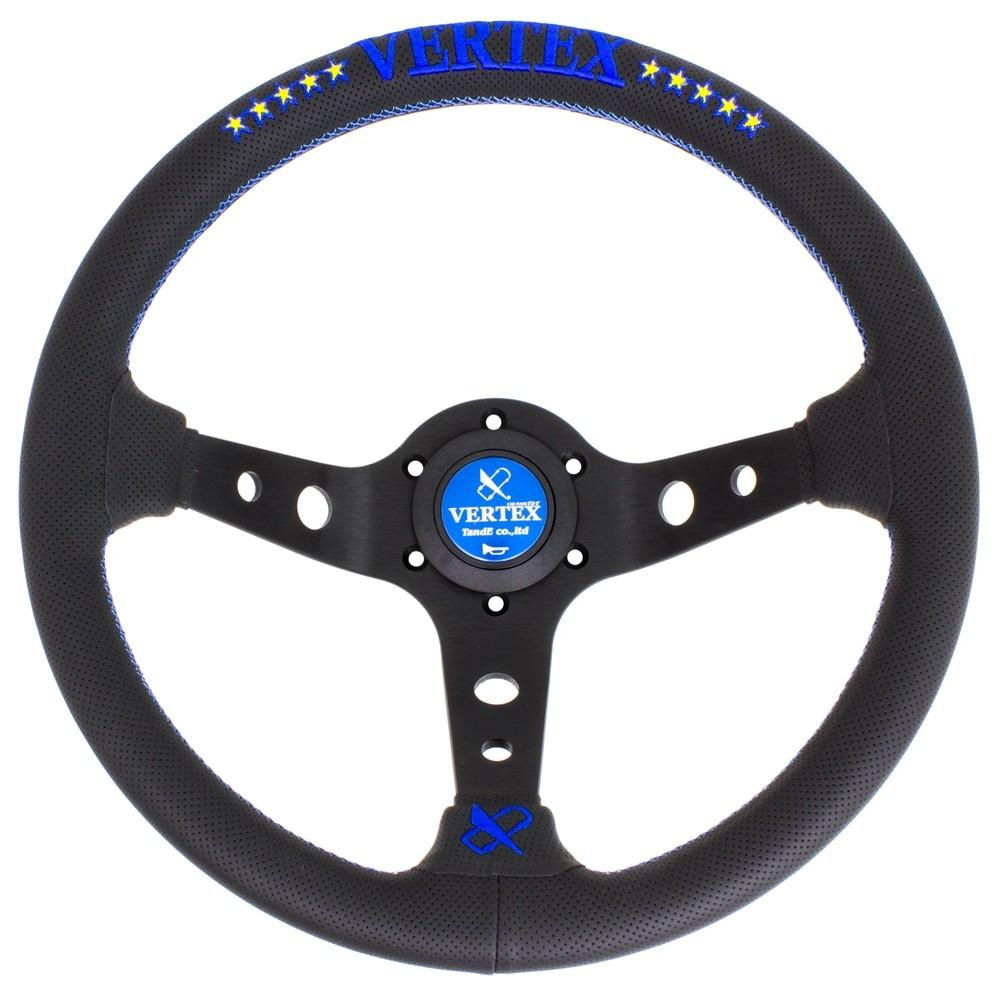 T&E Vertex JDM Steering Wheel - 10 Stars Blue FAF Automotive