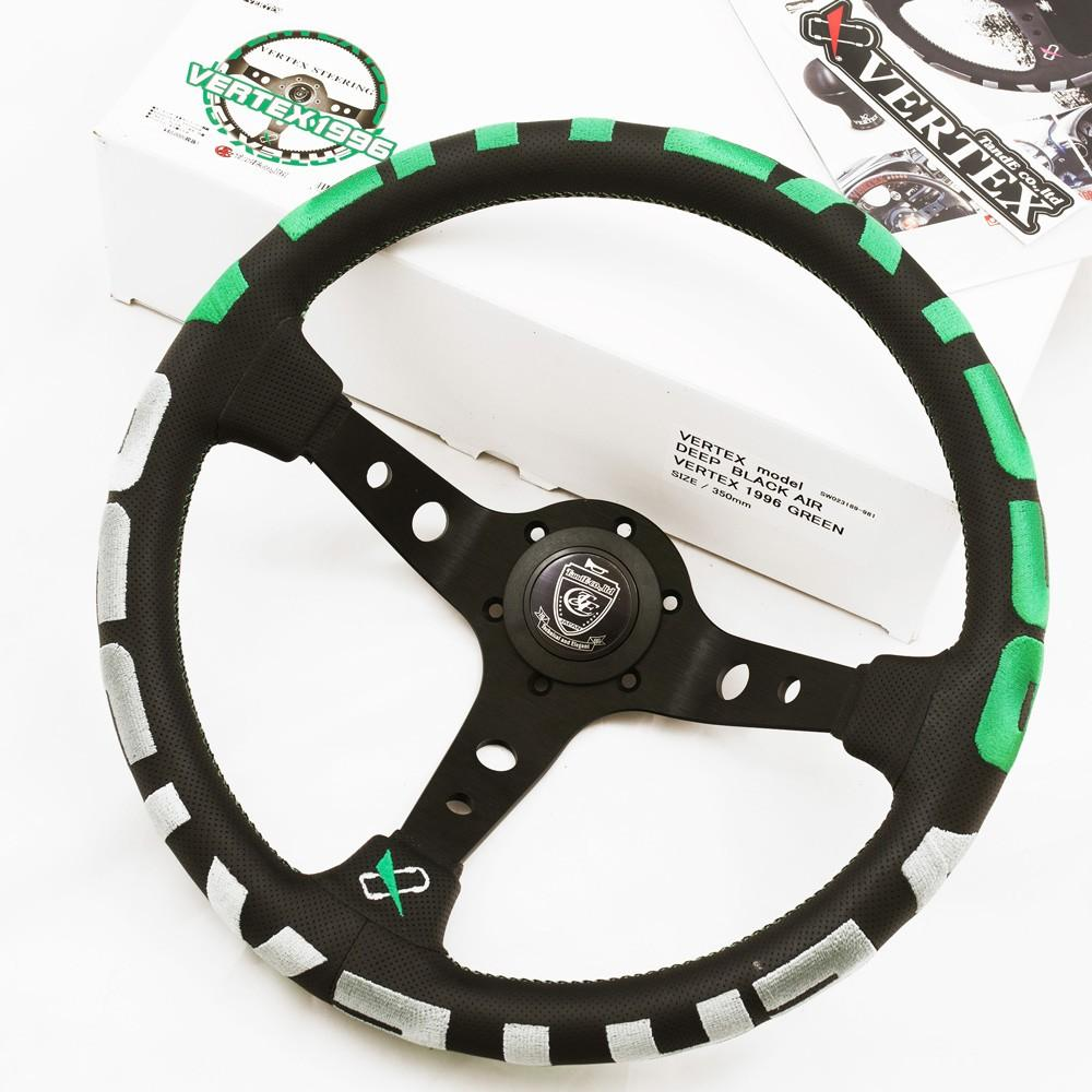 T&E Vertex JDM Steering Wheel - 1996 Green FAF Automotive