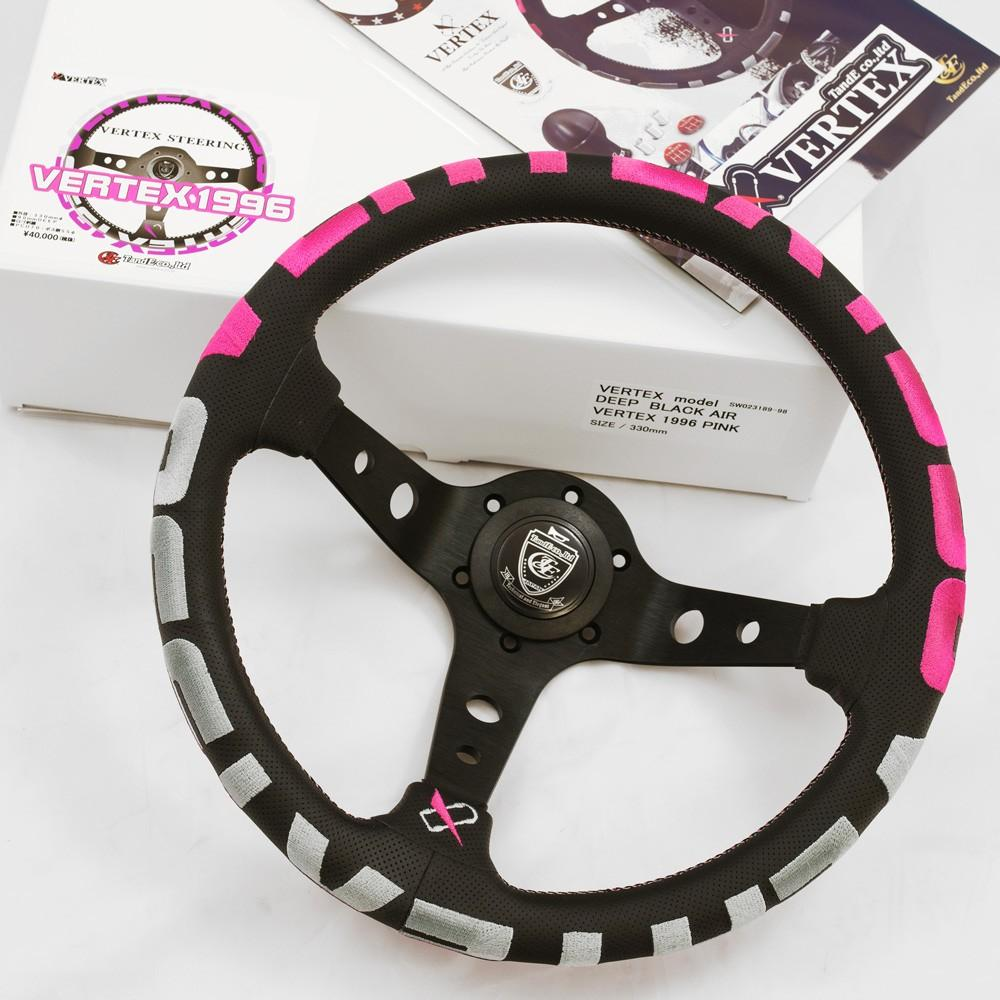 T&E Vertex JDM Steering Wheel - 1996 Pink FAF Automotive