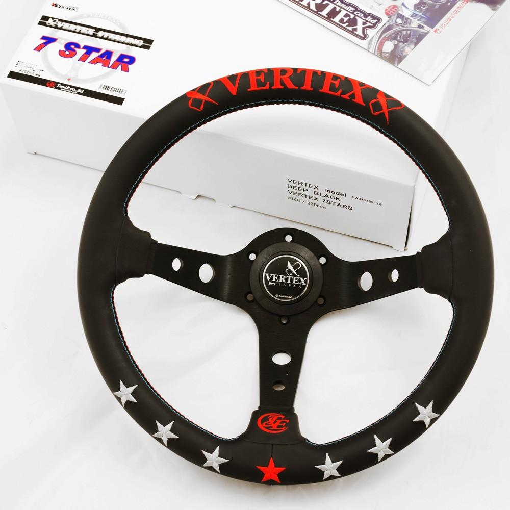 T&E Vertex JDM Steering Wheel - 7 Star FAF Automotive