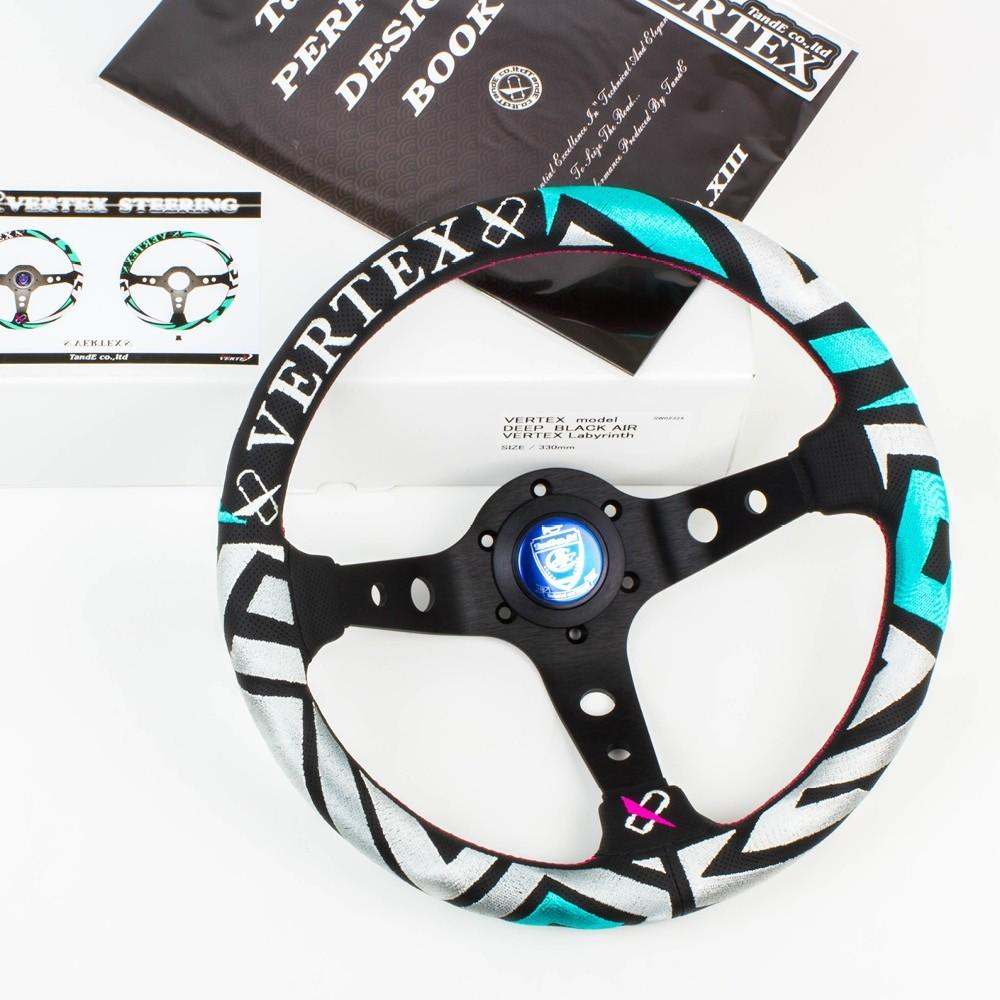 T&E Vertex JDM Steering Wheel - Labyrinth FAF Automotive