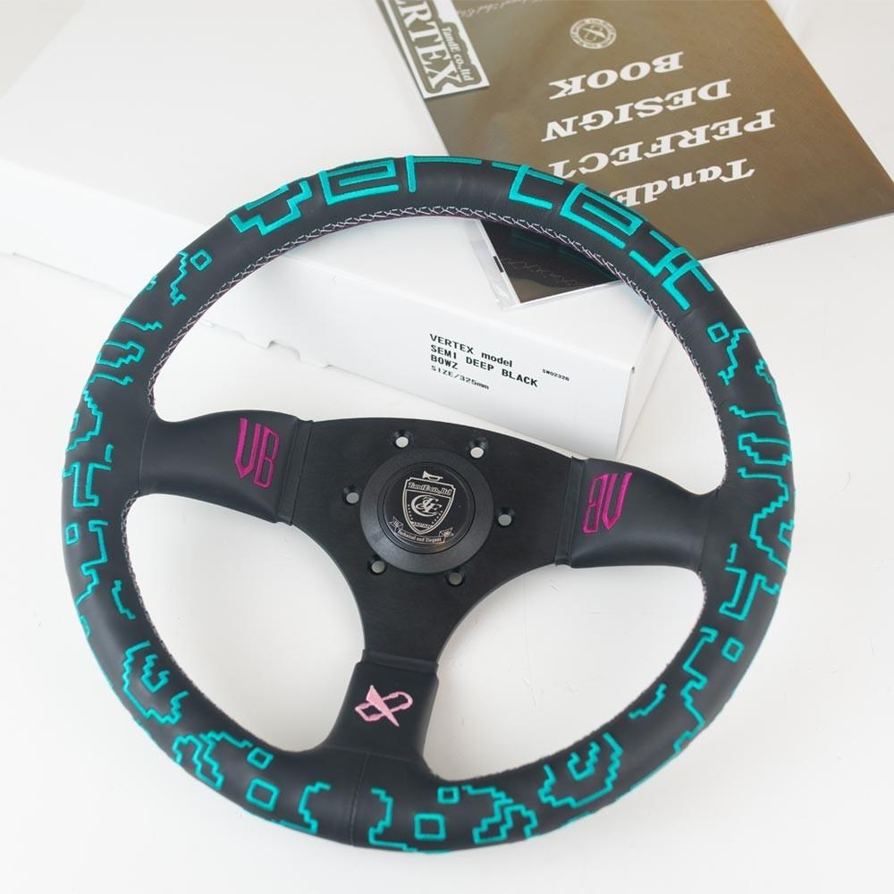 T&E Vertex JDM Steering Wheel - Vertex x Bowz Collaboration FAF Automotive