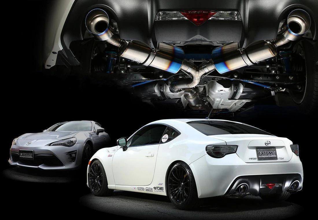 TOMEI Ti RACING TWIN TITANIUM MUFFLER CATBACK SYSTEM for 86/BRZ/FR-S