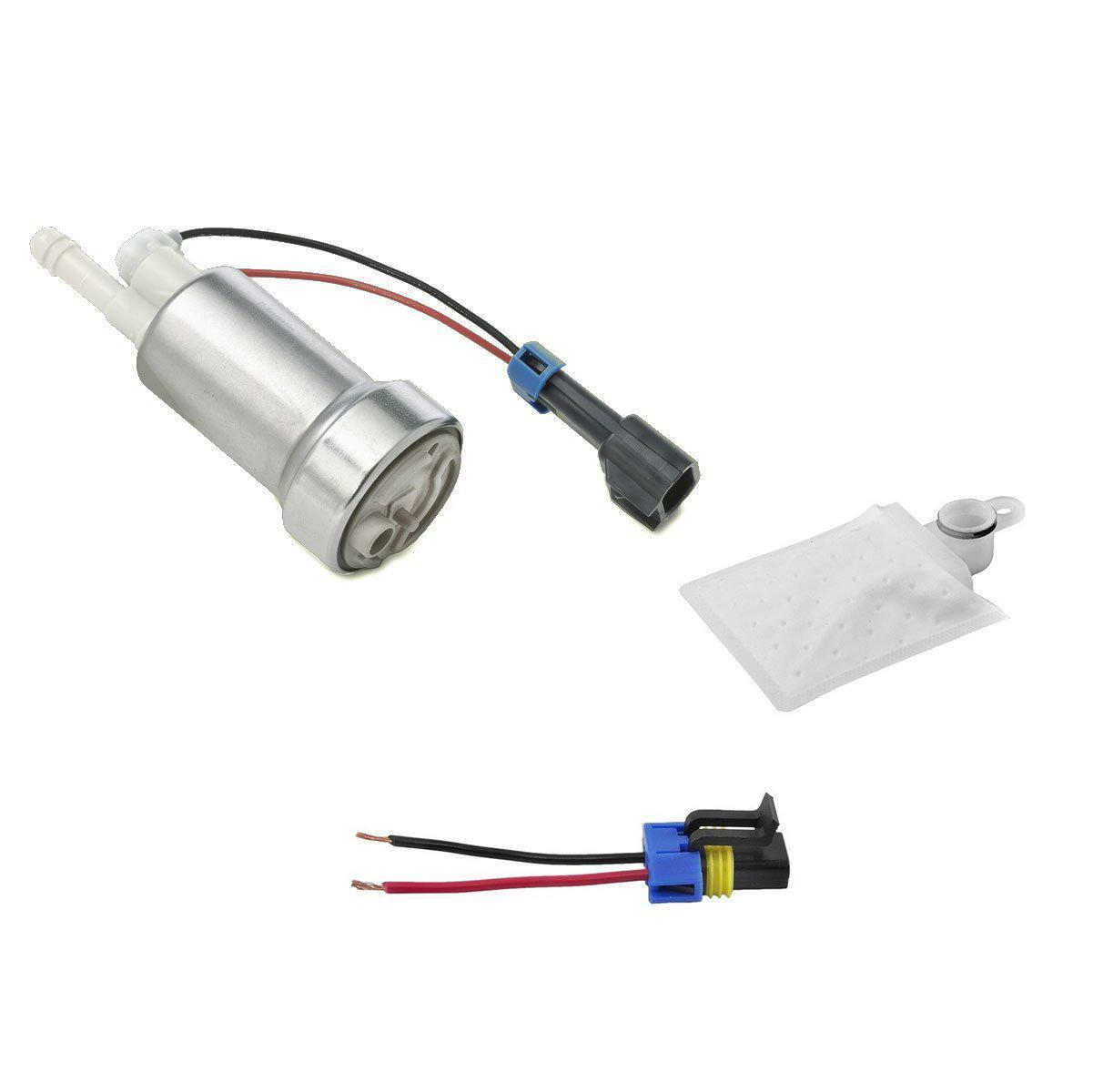 Walbro HP HELLCAT IN-TANK FUEL PUMP 470LPH W/FITTING KIT (E85 COMPATIBLE) - 45 DEGREE STRAINER FAF Automotive