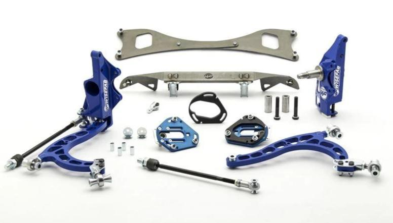 WISEFAB Nissan S-Chassis V2.0 4-Stud Lock Kit - Rack Relocation FAF Automotive