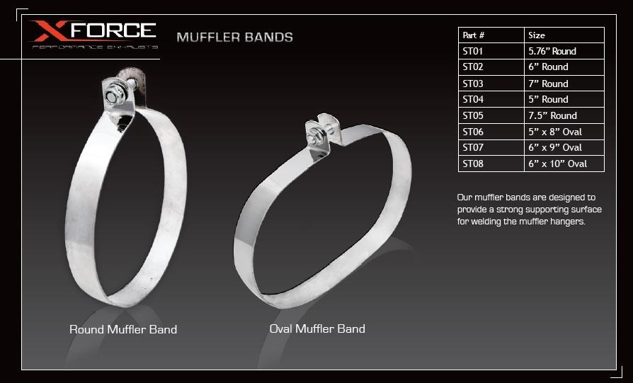 X-Force Round Muffler Band - 7.5in