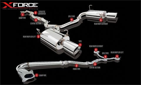 X-Force Subaru Liberty GT 2010 Cat Back Stainless Steel System