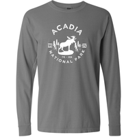 Acadia National Park Comfort Colors Long Sleeve T Shirt