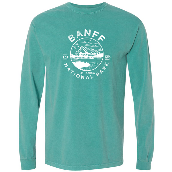 Banff National Park Comfort Colors Long Sleeve T Shirt